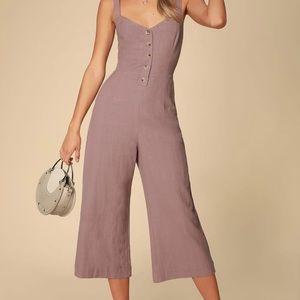 Mercedes Dusty Purple Wide-Leg Jumpsuit